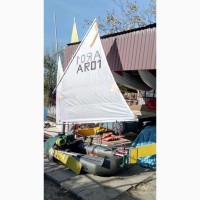 Вітрильне озброєння для надувного човна (парусное вооружение для надувной лодки)