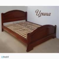 Кровать двуспальная Ирина из массива ясеня от производителя ЧП Калашник