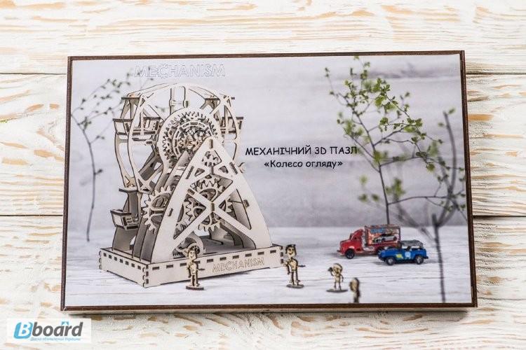 Фото 10. Механический-Деревянный 3D Конструктор - Колесо обозрения