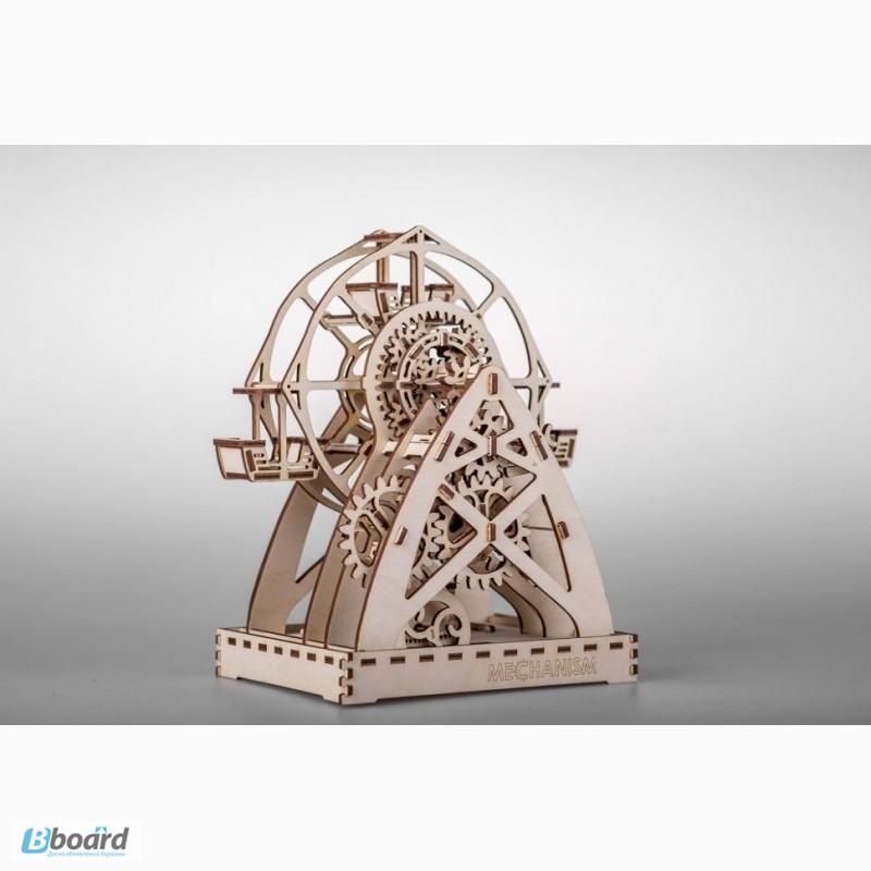 Фото 2. Механический-Деревянный 3D Конструктор - Колесо обозрения