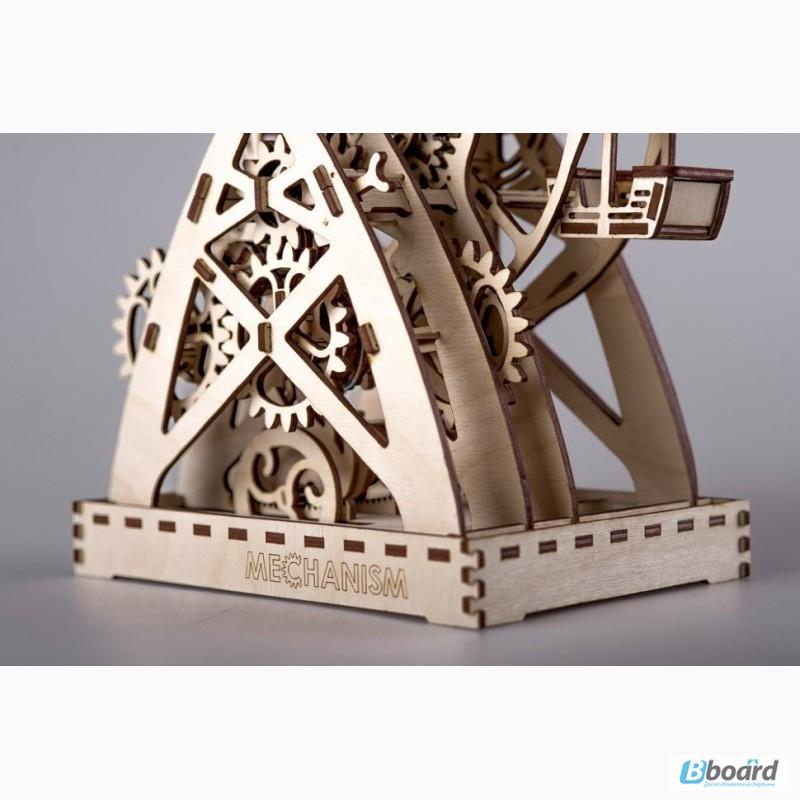 Фото 4. Механический-Деревянный 3D Конструктор - Колесо обозрения