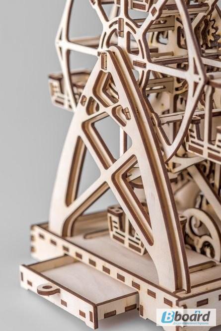 Фото 5. Механический-Деревянный 3D Конструктор - Колесо обозрения