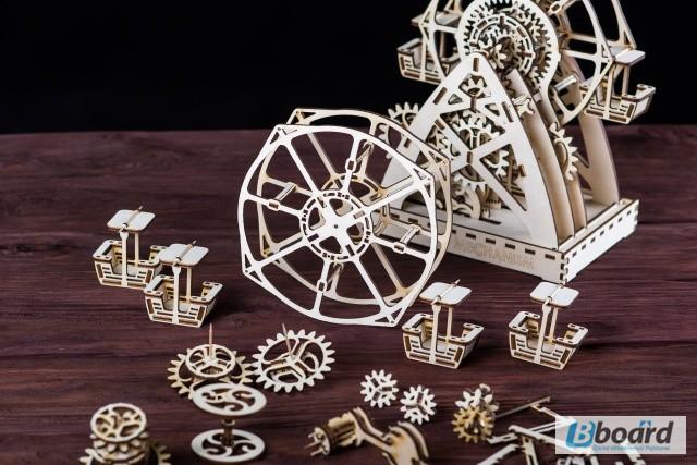 Фото 6. Механический-Деревянный 3D Конструктор - Колесо обозрения