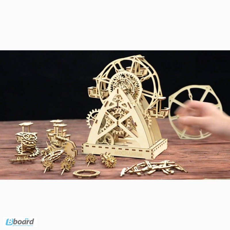Фото 8. Механический-Деревянный 3D Конструктор - Колесо обозрения