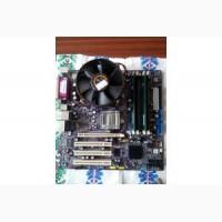 Материнская плата ECS 915-M5GL (1.1)+ процессор Socket LGA775+ вентилятор