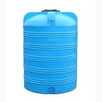 Емкость вертикальная на 1500 литров, пищевая бочка пластиковая, бак для воды