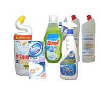 Моющие и чистящие средства для ванной, туалета и сантехники