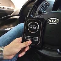 Автообложка с номером и логотипом Авто, портмоне + брелок с номером в подарок
