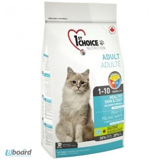 Корм для кошек 1st Choice Healthy Skin Coat - для длинношерстных кошек