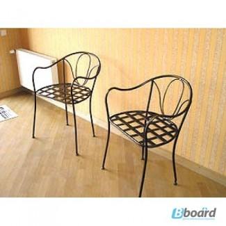 Кованый стул со спинкой КСС6
