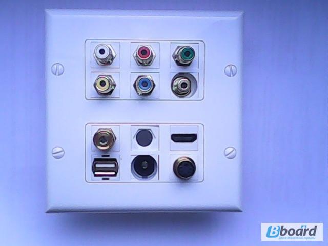 Фото к объявлению: розетка HDMI, vga, rca, usb, cat6 - Bboard.Kiev