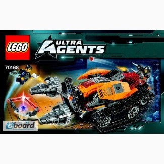 Lego Ultra Agents drillex diamond Кража бриллианта или добыча алмаза 70168