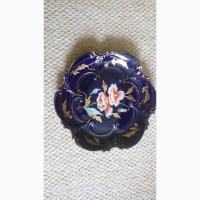 Продам антикварное немецкое блюдо фарфор ильменау с позолотой