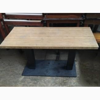 Продам столы б/у бамбук нога металл
