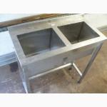 Б/у мойки столы стеллажи из нержавеющей стали для кафе, общепита