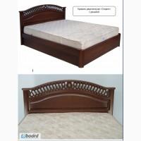 Кровать двуспальная с ящиками из массива ясеня от производителя