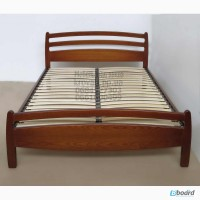 Кровать двуспальная из массива ясеня Елена от производителя ЧП Калашник