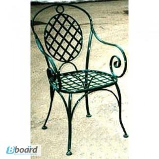 Кованый стул со спинкой КСС7