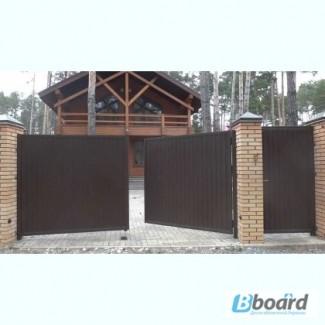 Ворота распашные металлические, противопожарные