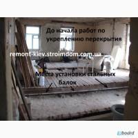 Усиление балок междуэтажного перекрытия