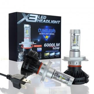Акция! Philips X3 LED лампы головного света 50W 6000LM ксенон, Киев