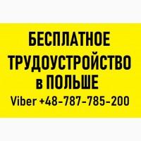 РАБОТА в ПОЛЬШЕ для Украинцев   Бесплатное трудоустройство