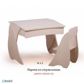 Стол с пеналом и стул