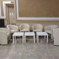 Аренда белых кожанных кресел для конференций