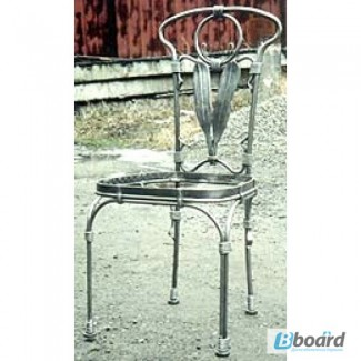 Кованый стул со спинкой КСС9