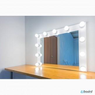 Недорогое гримерное зеркало модель алмаз
