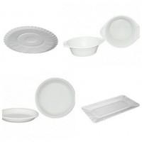 Пластиковые и бумажные одноразовые тарелки