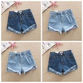 Женские джинсовые шорты с завышенной талией размера S, M, L