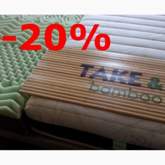 Матрас TakeGo Bamboo -20% (беспружинный)+подарок