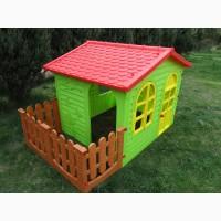 Детский игровой домик с заборчиком и с большим набор игровым Дантист