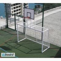 Ворота для минифутбола 3000х2000, с баскетбольным щитом и корзиной