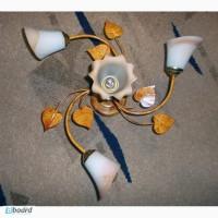 Люстра Цветы с листвой на 4 плафона