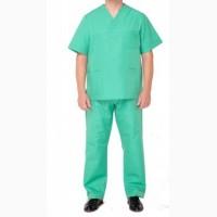 Костюм модельный медицинский мужской зеленый