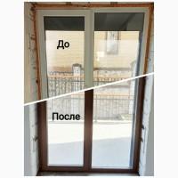 Покраска окон и дверей из ПВХ и алюминия, радиаторов