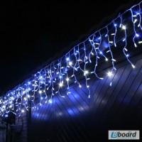 Светодиодная уличная гирлянда БАХРОМА, новогодние гирлянды, монтаж