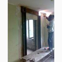 Алмазная резка проемов в квартирах, без пыли, с усилением металлом Харьков