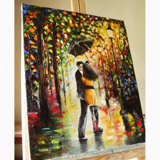 Картина маслом Закохані 50х60