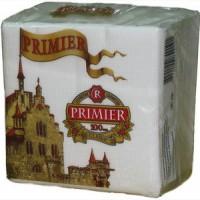 Салфетки Primier однослойные столовые белые 100 шт