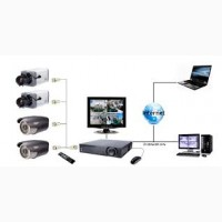 Установка систем видеонаблюдения, СКД, монтаж локальных компьютерных сетей