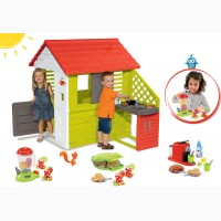Игровой домик Smoby с летней кухней 127cм + тележка с мороженным