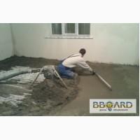 Стяжка пола цементно-песчаная машинная полусухая