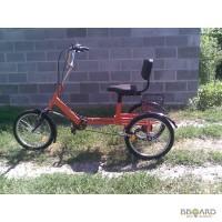 Велосипед трёхколёсный взрослый с грузовой корзиной
