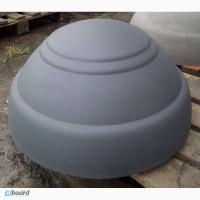 Полусфера бетонная, декоративный бетонный элемент ограждения