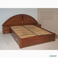 Кровать двуспальная деревянная с прикроватными тумбами от производителя