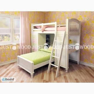 Детская двухъярусная кровать Гуффи 1 из натурального дерева