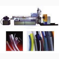 Экструзионная линия для ПВХ армированных шлангов волокнами нитками